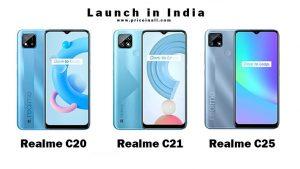 Realme c20 c21 c25 price in india